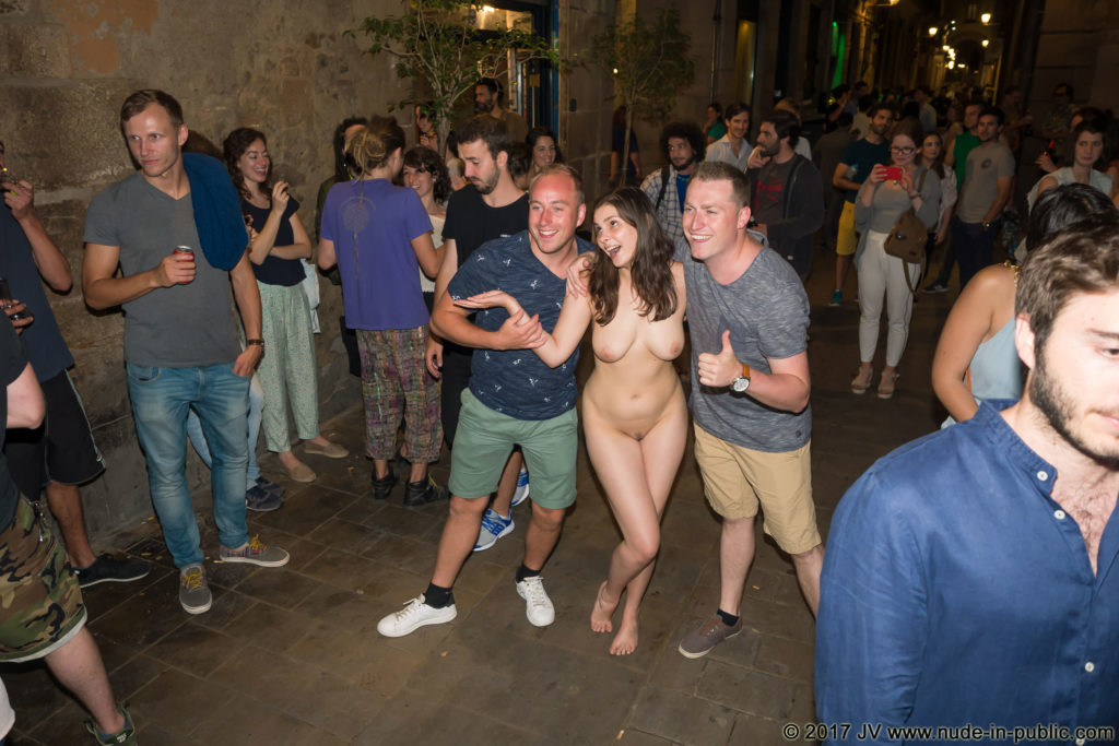 Only One Naked at a Bar