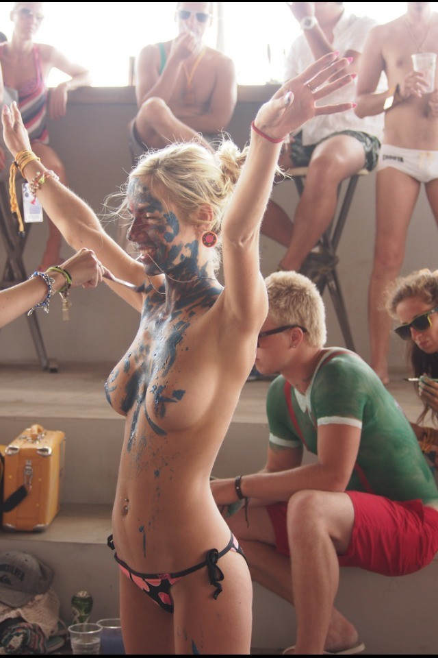 Only One Naked Body Paint